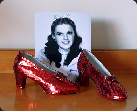 Hand sewn bow for Judy Garland's ruby slippers