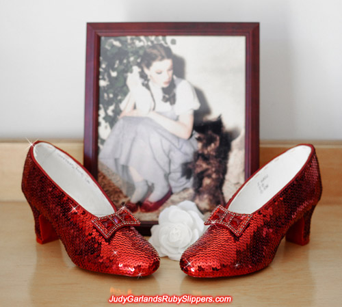 Beautiful high quality Judy Garland's ruby slippers