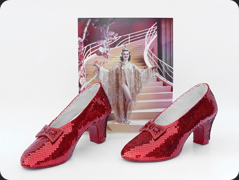Stunning pair of ruby slippers made by JudyGarlandsRubySlippers.com