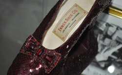 Judy Garland's size 5.5 replica ruby slippers