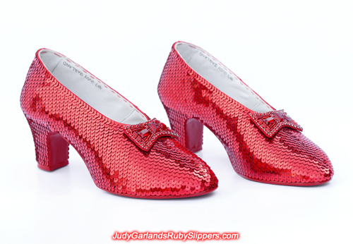 Judy Garland's size 5B replica ruby slippers